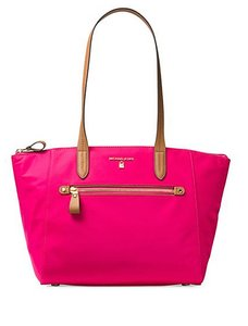 Michael Kors Extra Large Denim Tote in ultra pink