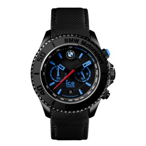 Ice BMW Motorsport 45 mm Chronograph Black Dial/Leather Strap Men's Watch