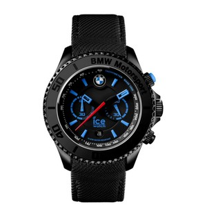 Ice BMW Motorsport 53 mm Chronograph Black Dial/Leather Strap Men's Watch