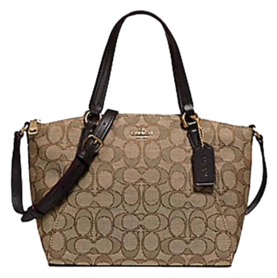 63ccb6ff49a60 Coach Kelsey Crossbody Exploded Rep Legacy Jaquard Satchel in brown Image 0  ...