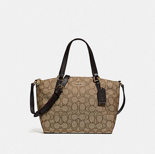 Coach Kelsey Crossbody Exploded Rep Legacy Jaquard Satchel in brown Image 3