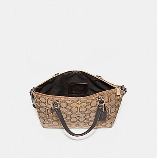 Coach Kelsey Crossbody Exploded Rep Legacy Jaquard Satchel in brown Image 6