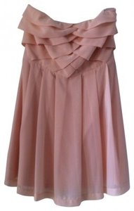 Express Strapless Chiffon Above The Knee Dress