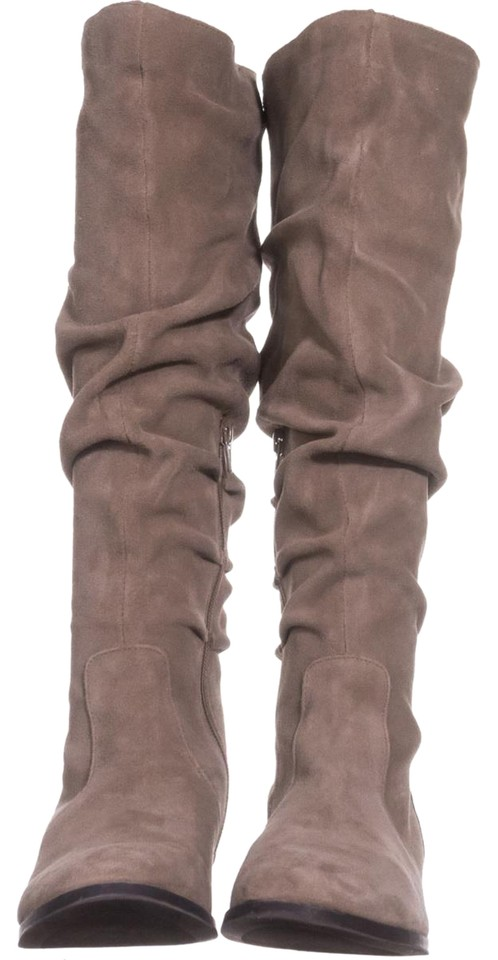 ce51e23bcda Steve Madden Beige Beacon Tall Slouch 909 Taupe Suede Boots Booties ...