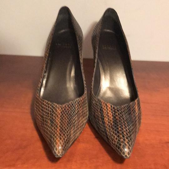 Stuart Weitzman Brown snakeskin Pumps Image 1