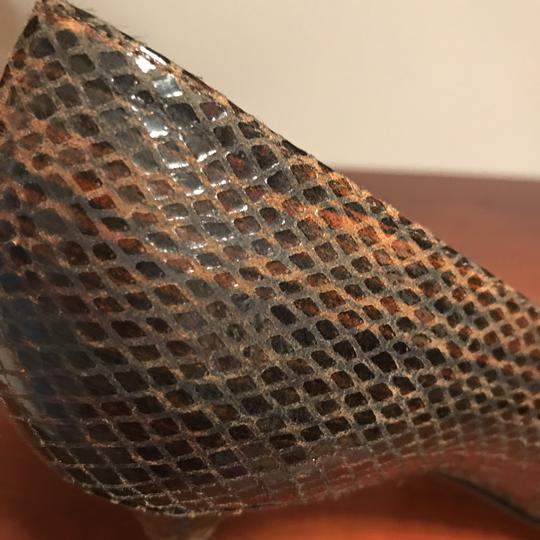 Stuart Weitzman Brown snakeskin Pumps Image 9