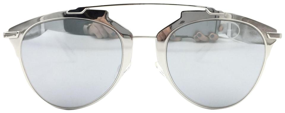 63e392e09a74 Dior Silver White Reflected Cat Eye Mirror 85ldc Sunglasses - Tradesy