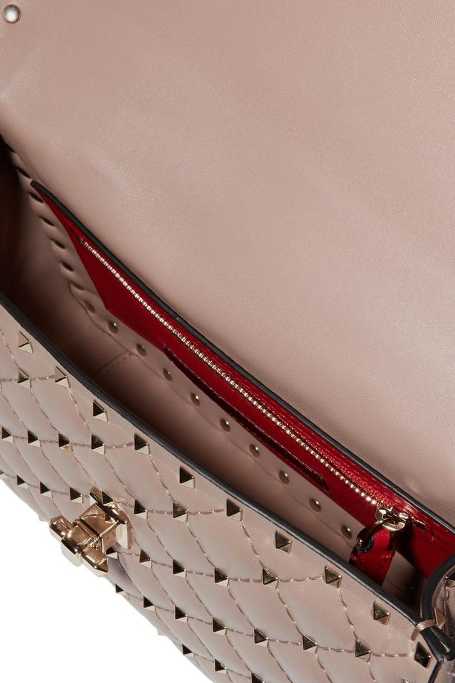 Valentino Nude New Poudre Rockstud Shoulder Chain Spike Medium Lambskin Bag dXYYwrx