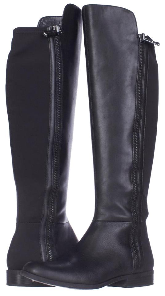 Bandolino Black High Camme Wide Calf Knee High Black Black/Black Used Boots/Booties b1f091