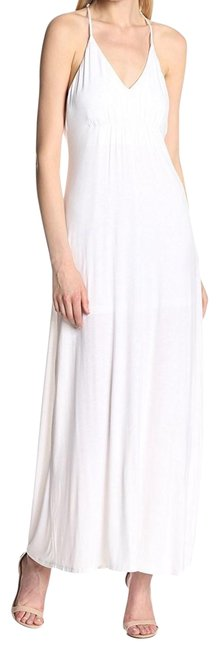 Item - White Bcbg Draped Strappy Long Casual Maxi Dress Size 6 (S)