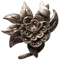 Other stunning vintage genuine marcasite and sterling silver brooch pin Image 0