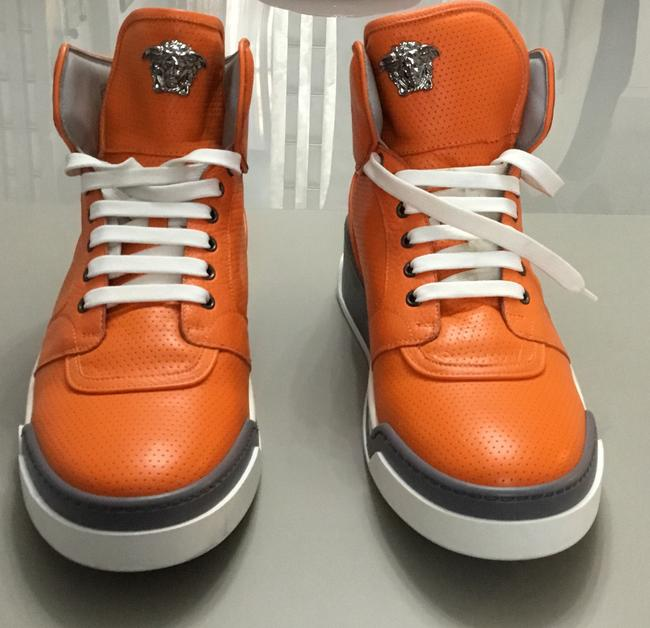 Item - Orange New Perforated High-top Sneakers For Men 45 - 12 Shoes