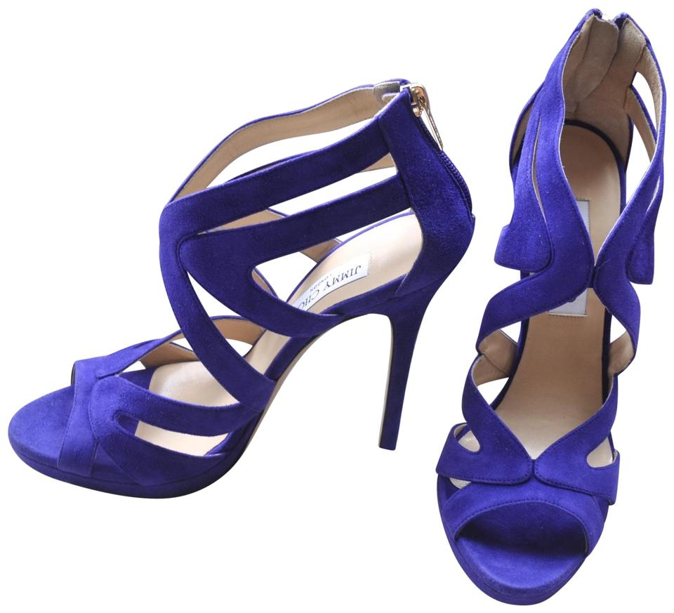 Jimmy Violet Choo Violet Jimmy Collar Suede Platform Sandals 3bb52a