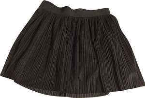 BCBGMAXAZRIA Mini Pleated Mini Skirt Black