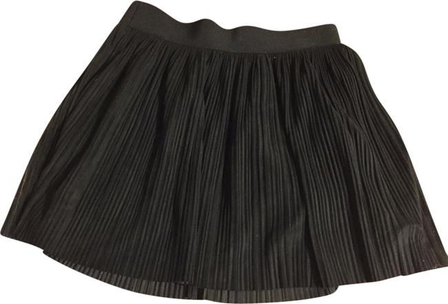 BCBGMAXAZRIA Mini Pleated Mini Skirt Black Image 0
