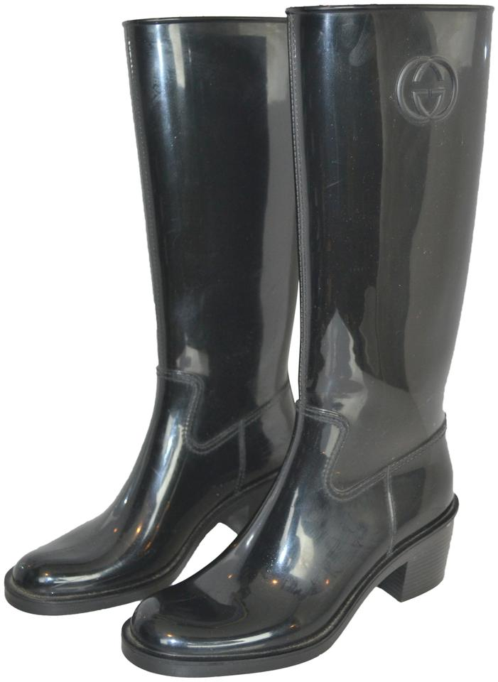 14600eed8 Gucci Black Devendra Nero Rain Boots/Booties Size EU 39 (Approx. US ...