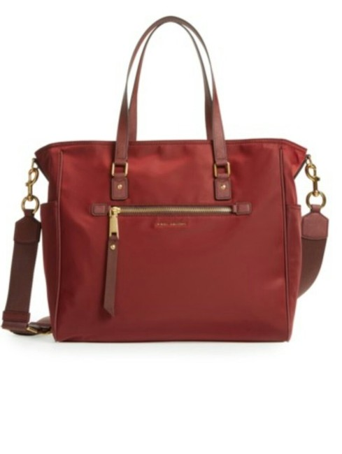 Item - With Changing Pad Port (Burgundy-chestnut) Textile Interior Lining Diaper Bag