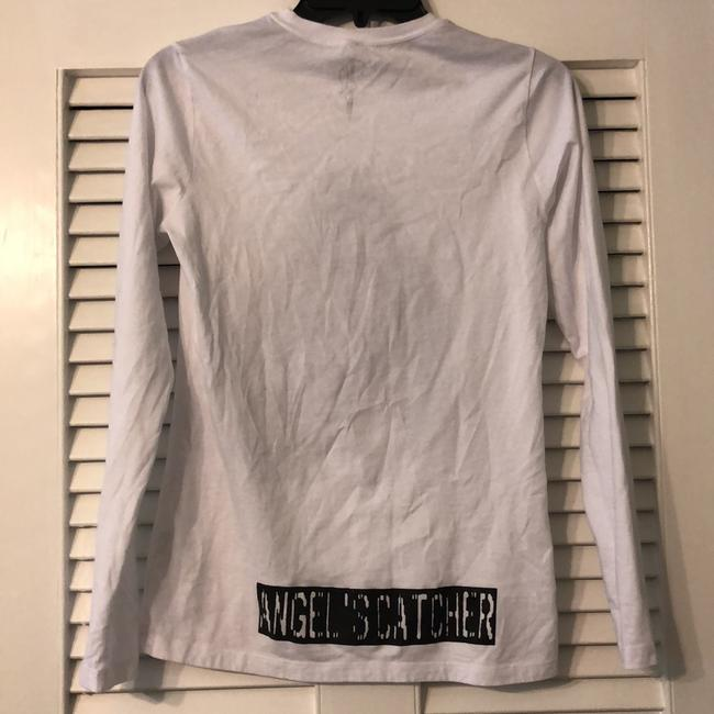 Bella+Canvas T Shirt White with Black Image 2