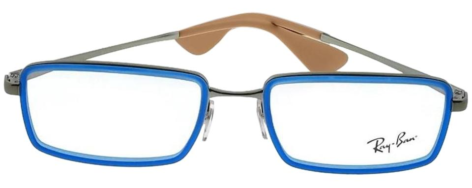 Ray-Ban Blue Frame Rx6337-2620 Rectangle Men\'s Clear Lens Sunglasses ...