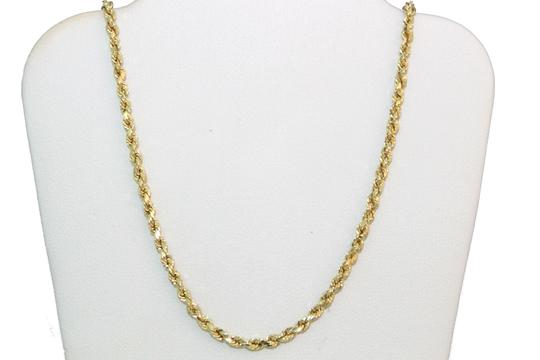 Other 10K Rope Chain with Diamond Nail Cross Pendant Charm Necklace Image 4