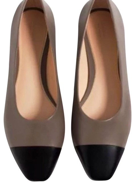 Item - Leather Two-tone Ballet Flats Size US 5 Regular (M, B)