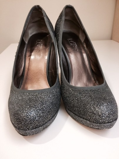 Ann Taylor LOFT Glitter Dark Grey Pumps