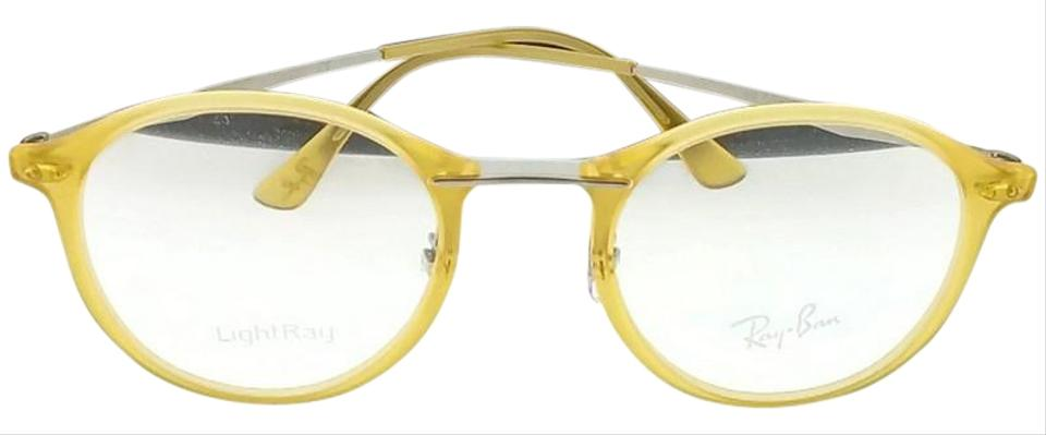 fc22ee8e1cd ... germany ray ban rx7073 5589 light ray unisex yellow frame clear lens  eyeglasses f610f 9b702