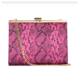 Juicy Couture Animal Print Faux Leather Fuchsia Clutch