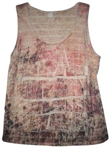 Coldwater Creek Ruffle Sleeveless Top Multi-Color