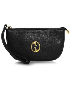 Gucci Small Logo Wallet Pouch Wristlet in black