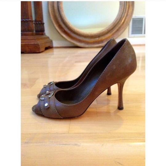 Dior Taupe Pumps
