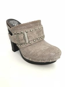 Vince Camuto Silver Mules