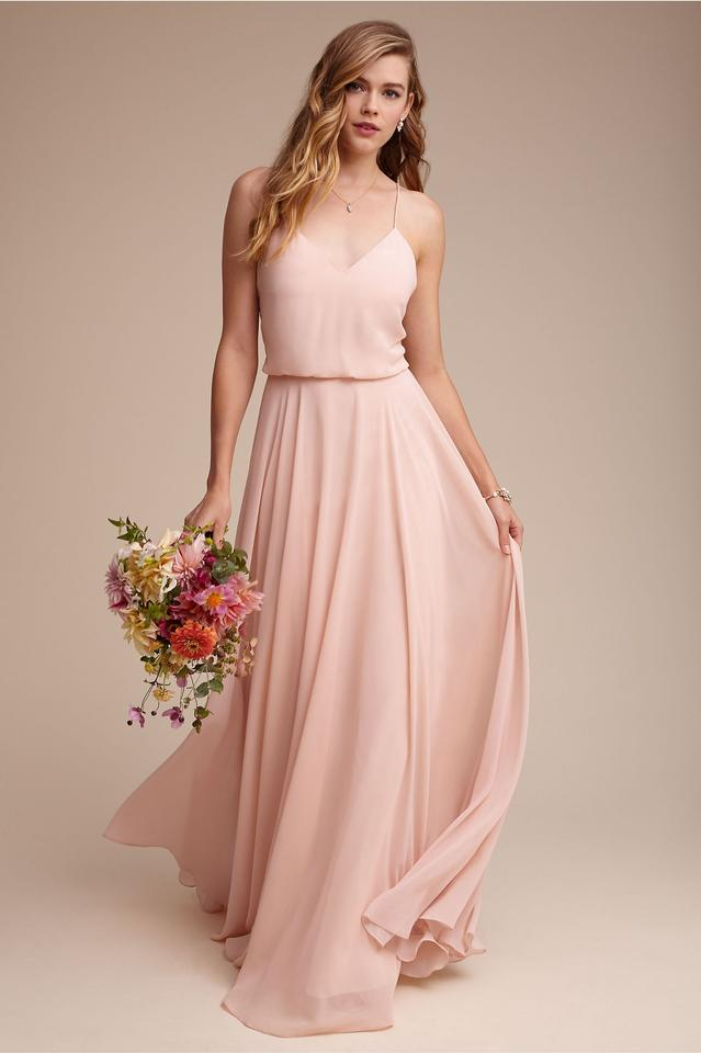 acbabf6f47 BHLDN Blush Chiffon Inesse By Formal Bridesmaid Mob Dress Size 4 (S) Image  ...