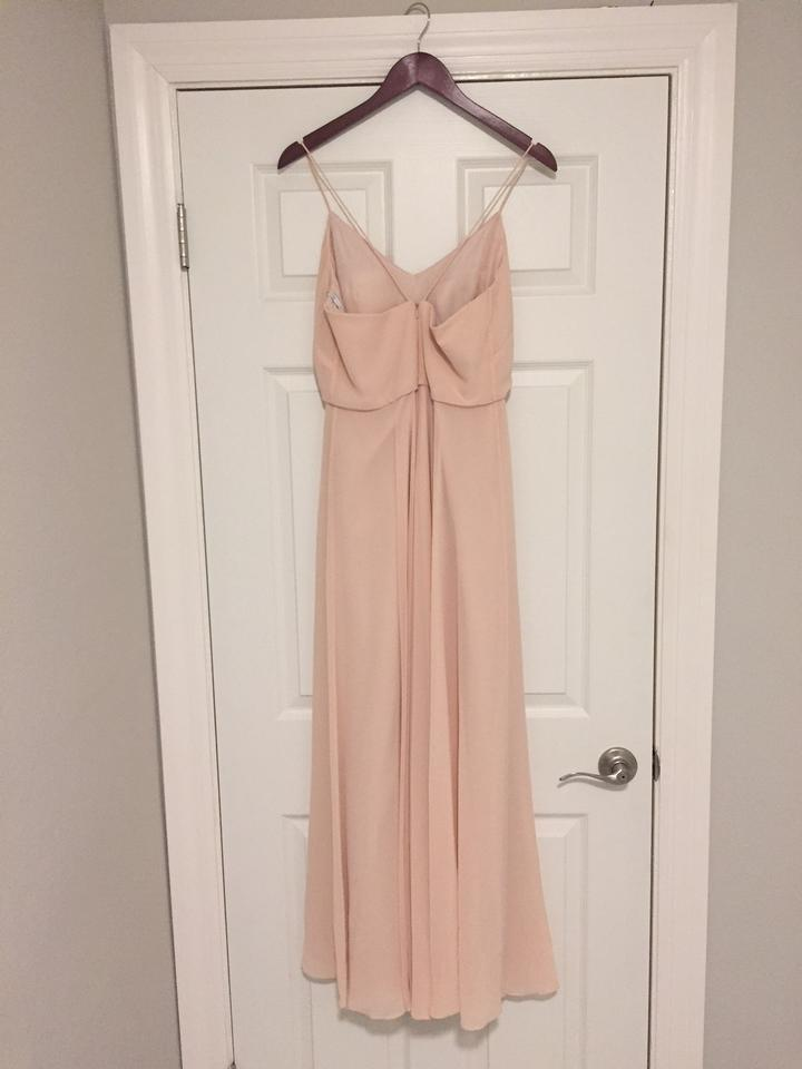 6f610285d9 BHLDN Blush Chiffon Inesse By Formal Bridesmaid Mob Dress Size 4 (S) Image.  123
