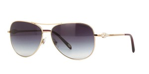Tiffany & Co. Tiffany&Co Women Sunglasses TF3052-B 6105/3C Rose Gold Frame Grey Lens
