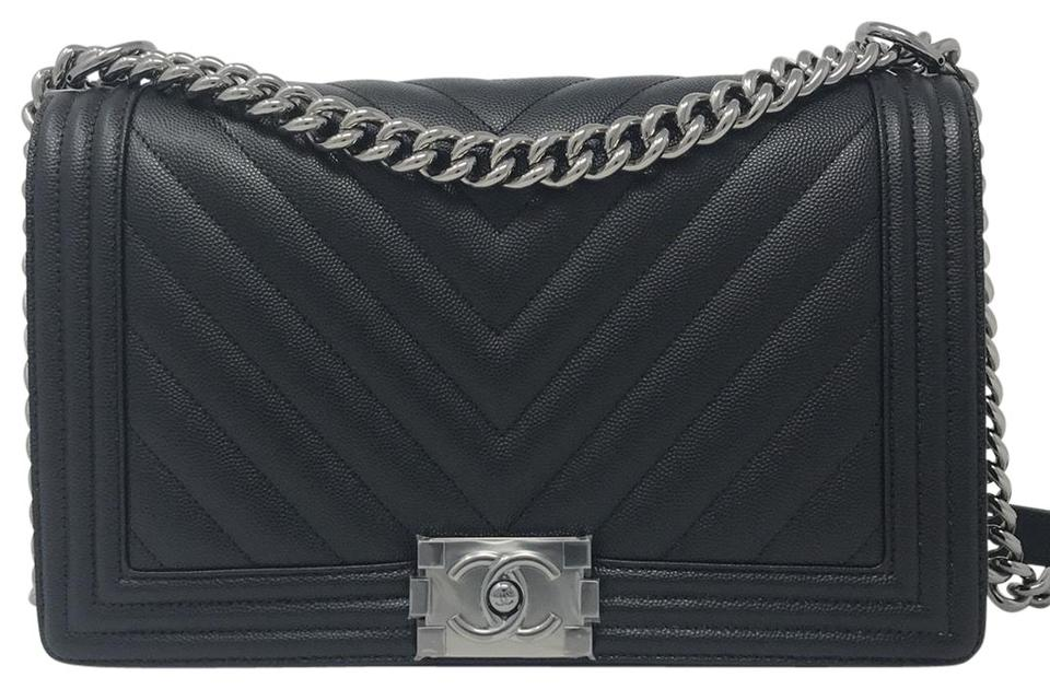 6d170013cffc Chanel Boy Chevron Chevron Boy Le Boy Caviar Boy Shoulder Bag Image 0 ...