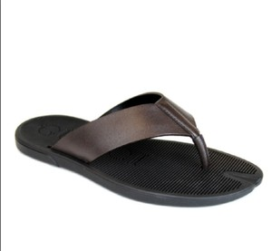Gucci Brown Men's Leather Flip-flop Thong Sandals 8g / Us 8.5 338784 2019 Shoes