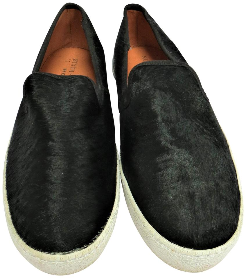 02f89349bf9 Black Pony Hair Slip Ons Ecentric Flats Size US 10 Regular (M, B) 49% off  retail