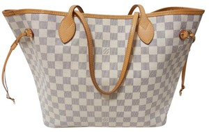 Louis Vuitton Neverfull Neverfull Canvas Neverfull Mm Tote in Damier Azur