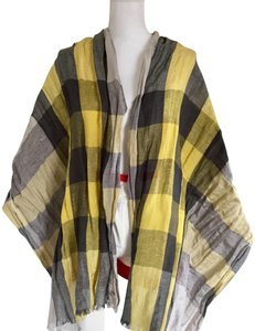 Burberry guc Burberry linen and silk check scarf
