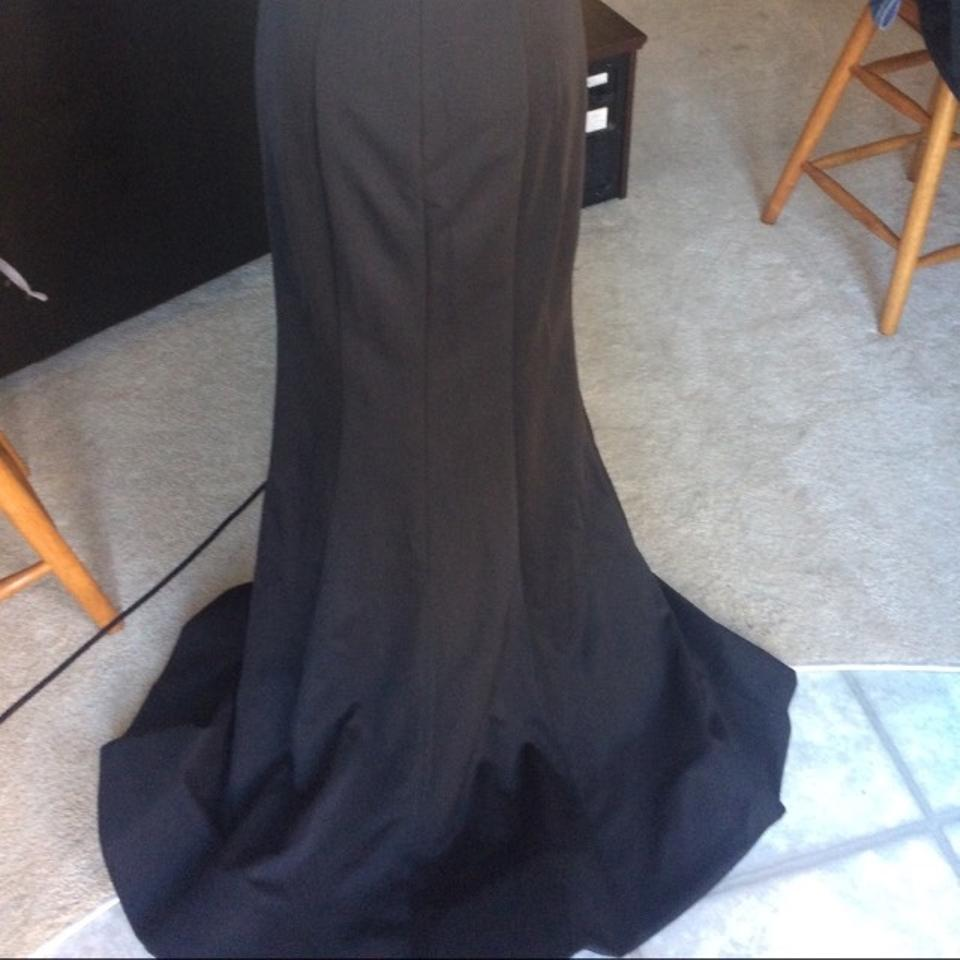 Bella Formals Black Ball Gown Long Formal Dress Size Petite 6 S