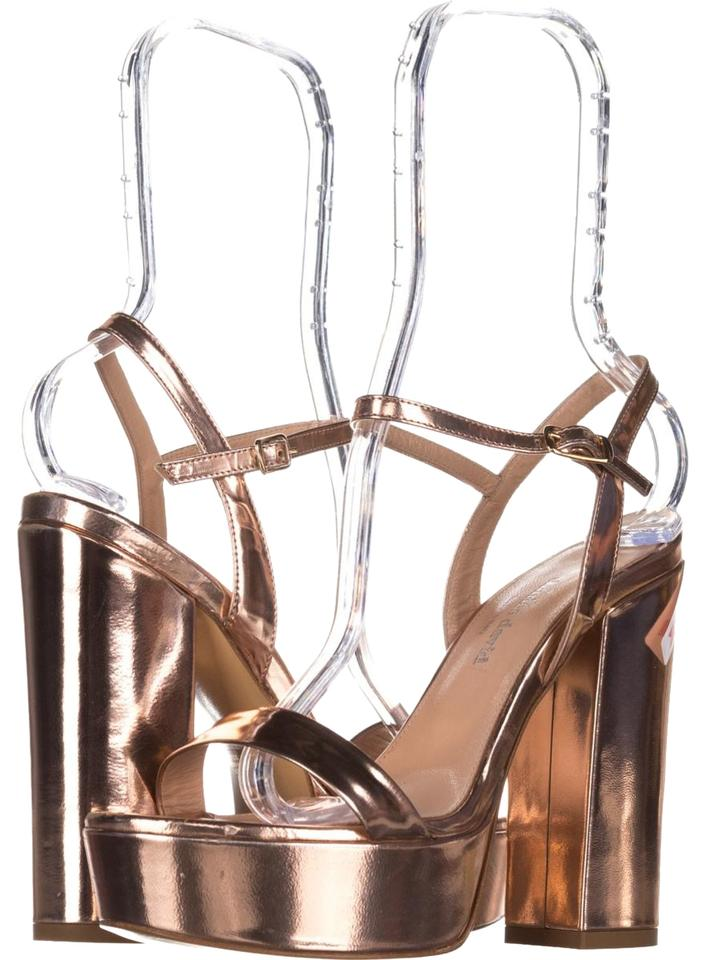 Charles by Charles David Pink Retro Ankle Platforms Strap Sandals 604 Roseg Platforms Ankle d9bef3