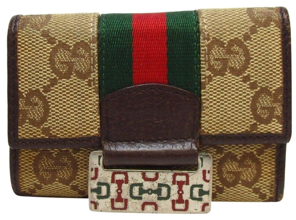 cfad7afe948 Gucci GUCCI GG canvas key holder Canvas Leather Image 0 ...