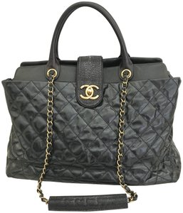 Chanel Classic Exotic Large Tote in Black