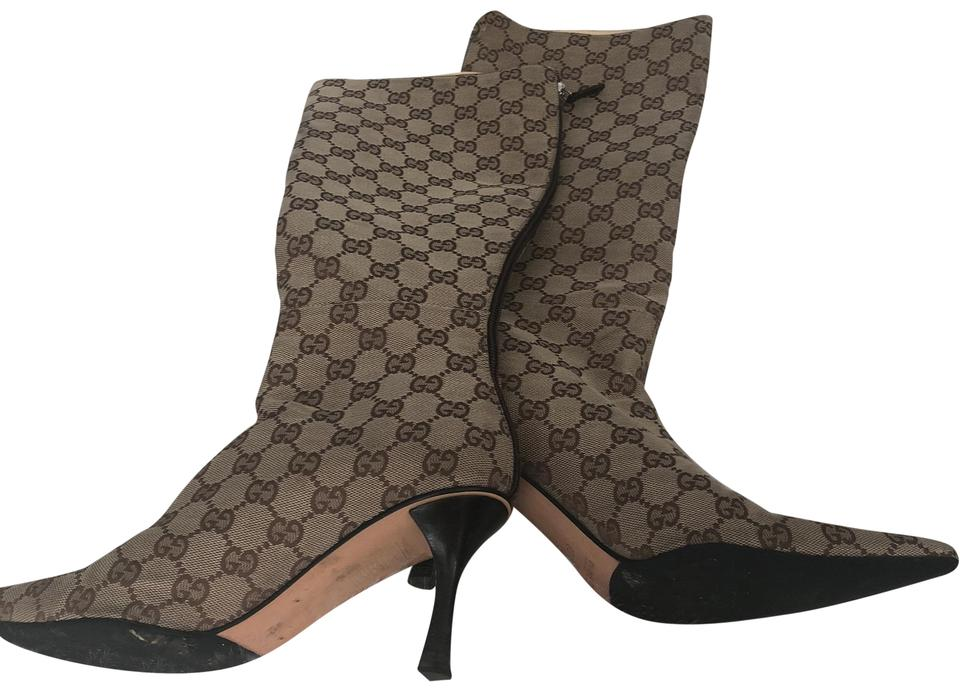 5718293310f8 Gucci Brown Tall Boots Booties Size US 8 Regular (M