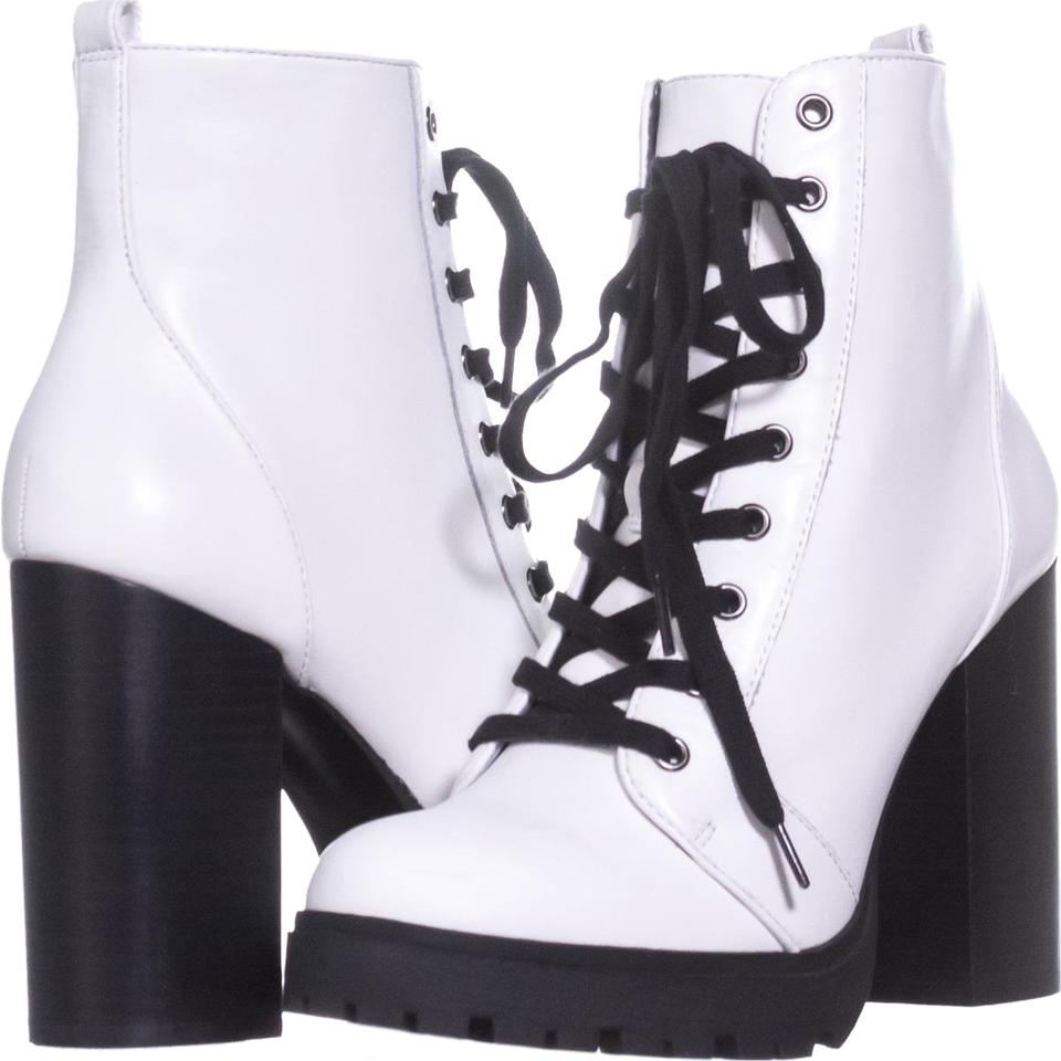 f6a81da05ec Steve Madden White Laurie Casual Ankle 682 Leather Boots Booties ...