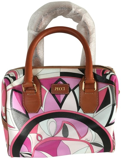 Preload https://img-static.tradesy.com/item/23219039/emilio-pucci-printed-pink-silk-and-leather-tote-0-1-540-540.jpg