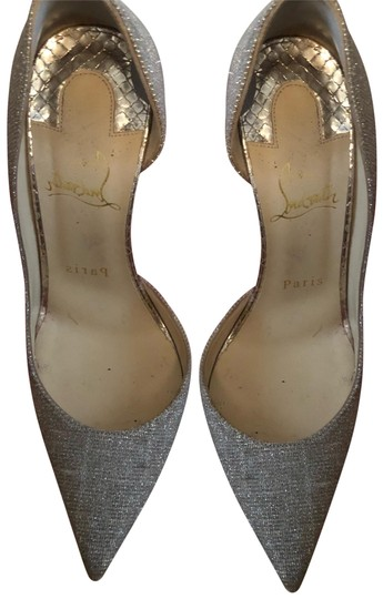 Preload https://img-static.tradesy.com/item/23219061/christian-louboutin-gold-and-silver-pumps-size-us-7-narrow-aa-n-0-1-540-540.jpg