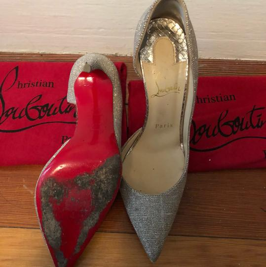 Christian Louboutin gold and silver Pumps