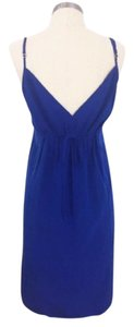 Twelfth St. by Cynthia Vincent Silk Jewel Tone Spaghetti Strap Dress